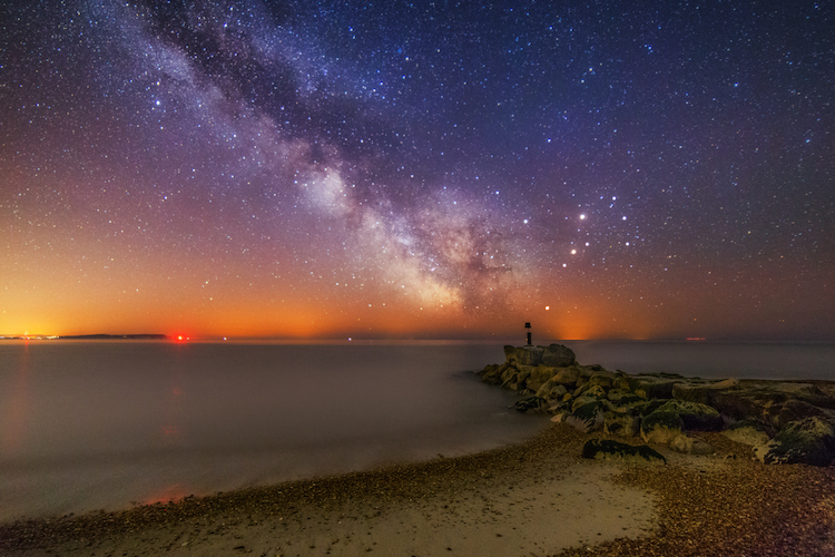 BOU - Gallery - Night sky from Hengistbury Head image credit Kevin Ferrioli